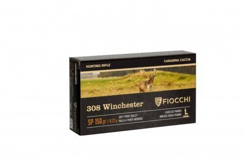 Патрон FIOCCHI кал. 308 Win. SP 9,72 гр. (150gr)